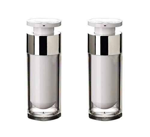 2 PCS Acrylique Airless Pompe À Vide Crème Lotion Crème Flacon Bocaux Bayonet Crème Lotion Crème Douche Cosmétique Toilette Liquide Maquillage Distributeur Fond (30ml/1oz)