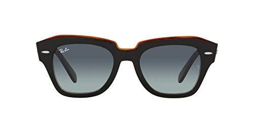 Ray-Ban 0RB2186 Gafas, BLACK ON TRANSPARENT BROWN, 49 Unisex Adulto