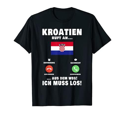 Kroatien ruft an Kroatische Flagge Croatia Urlaub T-Shirt