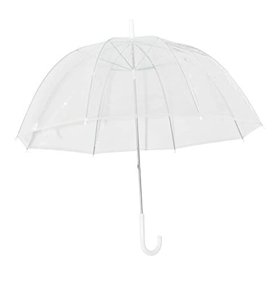 Home-X Clear Bubble Umbrella, Durable Wind-Resistant Umbrella with Sturdy Bubble Design Incapable of Flipping Inside Out, For Men and Women of All Ages
