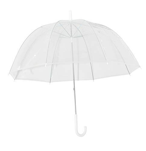 Home-X - Clear Bubble Umbrella, Durable Wind-Resistant Umbrella with Sturdy Bubble Design That Won't Flip Inside Out, for Men and Women of All Ages