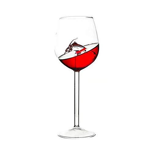 osyare Copa de vino tinto 300 ml, taza de agua vino tinto copa copas Home Bar Suministros delfines