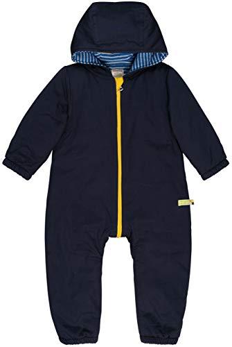 loud + proud Baby-Unisex Wasserabweisender, Wattierter Overall Aus Bio Baumwolle, GOTS Zertifiziert Schneeanzug, Blau (Midnight Mi), 80 (Herstellergröße: 74/80)