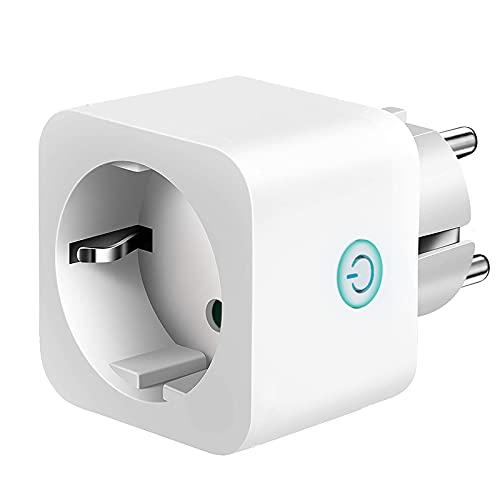 Intelligente WiFi Smart Mini Plug Spina Compatibile con Google Home/Amazon Alexa/IFTTT,TECKIN Controllo Remoto Funzione di Temporizzazione Presa Wireless per iOS
