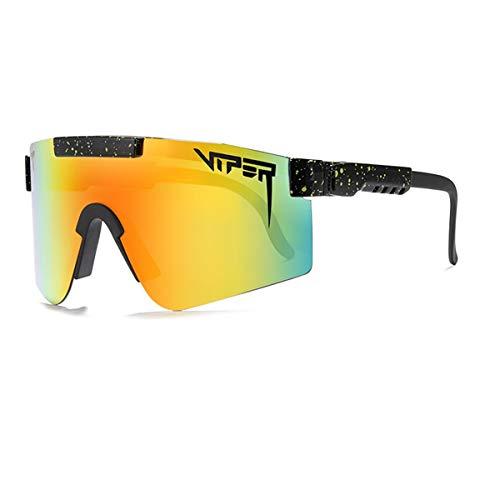Pit Viper, Deportes Polarizados Gafas de sol, Gafas de Exterior a Prueba de Viento Para Hombre y Mujer, Gafas de Ciclismo al aire Libre con Protección Ultravioleta UV400 Originales ( Color : C )