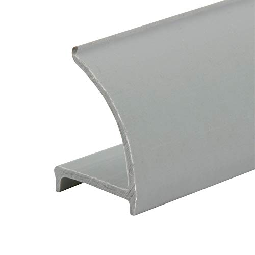 PRIME-LINE Glass Retainer Strips, 3/8 in. x 19/32 in. x 72 in, Rigid Vinyl, Gray in Color, Snap-in Glazing Bead, Pack of 5 (P 8053-5)