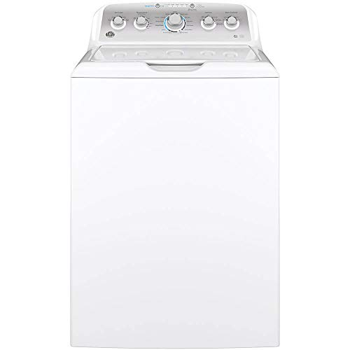GE GTW500ASNWS Top Loading Washer with Stainless Steel Basket, 4.6 Cu. Ft. Capacity, 13 Cycles, White
