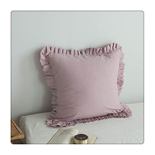 SKRHFLH Color de Loto de Loto de Loto de Loto Cubierta de cojín sofá con Franja Fleco de Funda de Almohada de algodón Luminosa lumabr Cover (Color : Purple)