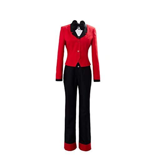 Polyer Hazbin Hotel Charlie/Moxxi Disfraz de Cosplay Anime Cool Outfit Suit Chaqueta de Uniforme Rojo Halloween Carnaval Disfraz para Mujeres Hombres Juego de Roles Juego Completo