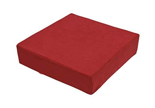 Stuhlerhöhung Sitzerhöhung Sitzkissen Bodenkissen 40 x 40 x 10cm, rot