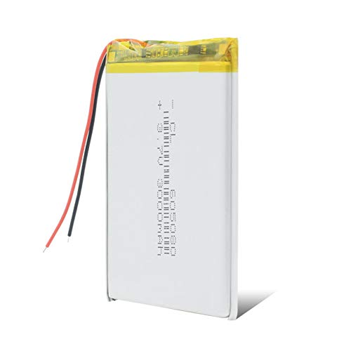 ndegdgswg 3.7 V 3000 mAh 605080 Lipo batería, Interphone LED lámpara Radios Baterías Construido en Módulo de Carga Inteligente 1 Pieza