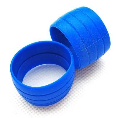 HANLING- 1 Paar Bike Silicone Plug Rubber Anti-Skip racefiets pluggen for Bar Tape Waterdichte Slijtvaste Oudoor Strap Silicone Ring (Color : Navy Blue)