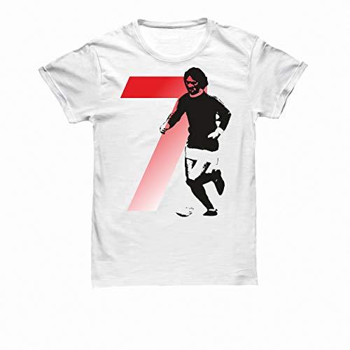 Bulabadoo Tshirt Calcio Uomo - Leggende del Calcio - George Best - Maglietta Calciatori - Calcio Tshirt - Maglia Calcio Uomo - Idea Regalo Originale Uomo