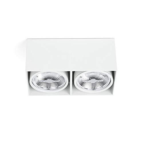 Projecteur spot Barcelona Tecto 63276 50W Corps en aluminium Blanc