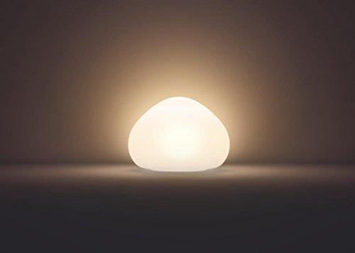 Philips Hue LED Tischleuchte Wellner inkl. Dimmschalter, alle Weißschattierungen, steuerbar auch via App, Glas, weiß, 4440156P7 - 4