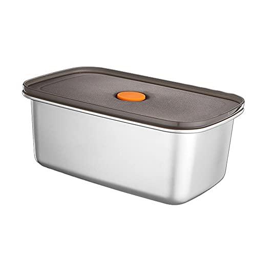 Recipientes de Alimentos de Acero Inoxidable 304 Bento de Metal a Prueba de Fugas con Tapas Selladas Caja de Almacenamiento de Alimentos refrigerados