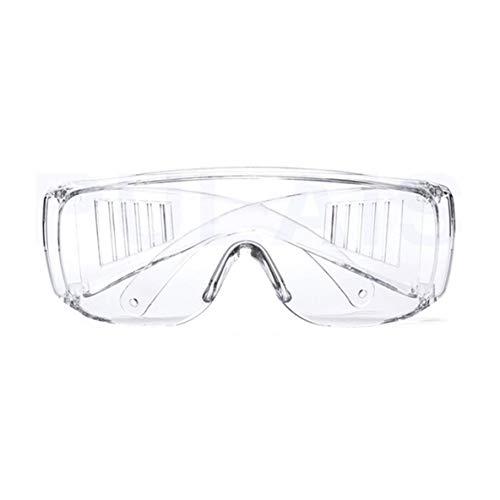 Gafas protectoras, gafas de seguridad Laboratorio Protección ocular Gafas protectoras médicas Lentes transparentes Gafas de seguridad en el lugar de trabajo Suministros antipolvo (transparentes) ✅
