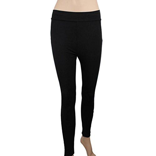 Yoga Hosen Damen Mädchen Yoga Leggings Hose Btruely Hohe Taille Sporthosen Yoga Workout Gym Pants Yoga Leggings Fitness Übung Ausbildung Hose (M, Schwarz 5) - 5