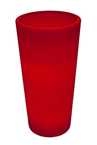 Luminatos Pillar 56, led-zuil bloempot 56 cm met afstandsbediening verlicht 16 kleuren