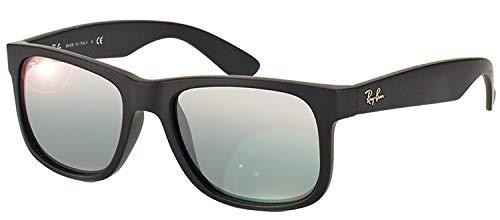 RayBan Justin RB4165 622/6G 55 Rubber Black/Grey Mirror Silver
