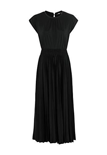 HALLHUBER Jerseykleid in Midilänge ausgestellter Schnitt schwarz, L