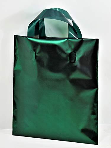 Bolsas satinadas con asa suave para caja de regalo y llevar diferentes tamaños y colores (verde inglés, 30 x 40 cm, 10 unidades)