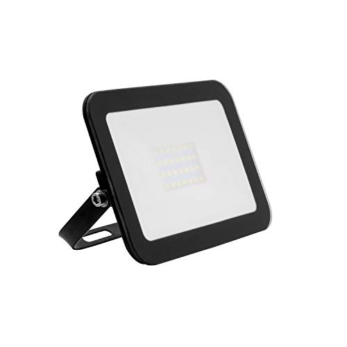 Foco Proyector LED Slim Cristal 20W Negro Blanco Cálido 3000K - 3500K