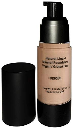 Mom's Secret 100% Natural Foundation, Organic, Vegan, Aloe Based, Natural Sun Protection, Gluten Free, Cruelty Free, Made in the USA, 1FL Oz. (Bisque)