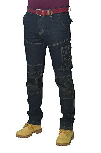 Prime Pantalones de Trabajo para Hombre BLJ-02 (BLACK-007, 32W X 32L)