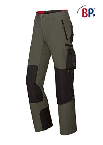 BP 1861-620-7332 Workwear heren Superstretch broek, polyamide en elastaan, olijf/zwart, maat 48l