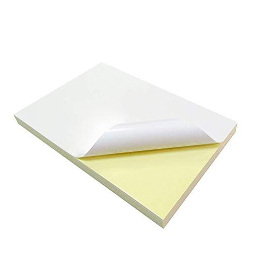 Papel Pegatina para Imprimir A4,20 Hojas Papel de Blanca Mate Aadhesivo,A4 Etiqueta Autoadhesivo para Impresora Papel de Impresión de Etiquetas para Suministros de Oficina