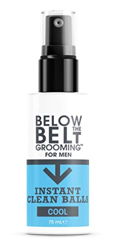 Below The Belt Grooming Instant Clean Balls - Ideal for Sports, Gym, Festivals & Travel - Minty Fresh 75ml