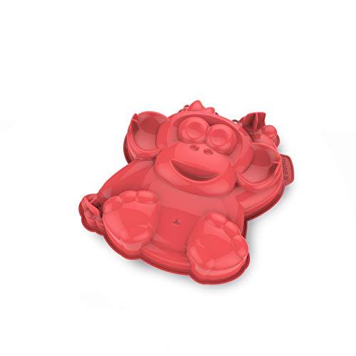 Cecoa Kuchenform Affe 27 cm / 100 % Silikon, hohe Qualität, Antihaftbeschichtung, garantiert ohne BPA/perfektes Backen, leichtes Herauslösen