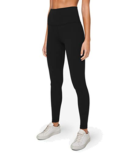 Lululemon Align Stretchy Full Length Yoga Pants - Women's Workout Leggings, High-Waisted Design, Breathable, Sculpted Fit, 28 Inch Inseam, Black, 6
