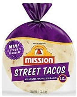 8 packages of Mission Street Tacos mini Flour Tortillas 11oz/ 12 count Per Package