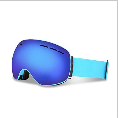 Mouygsd Gafas Snowboard Doble Capa Antiniebla Gafas de esquí esféricas Grandes de Gran Campo de visión Doble Capa Permanente antivaho Gafas de esquí al Aire Libre miopía Hombres y Mujeres