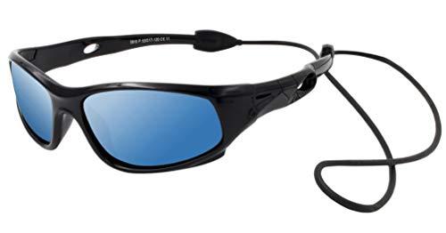 VATTER TR90 Unzerbrechlicher Polarisierte Sportbrille Sonnenbrillen für Kinder Jungen Mädchen Jugend DE 816blackbluelenses