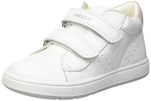 Geox B044CC08554 Bimba 0-24, White/Pink, 23 EU