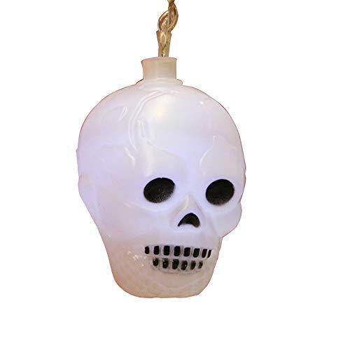 FGAITH schijnwerper, Halloween, feestverlichting, horror, binnenschroef, buitenverlichting, waterdicht, 10 doodskoplampen, werkt op batterijen