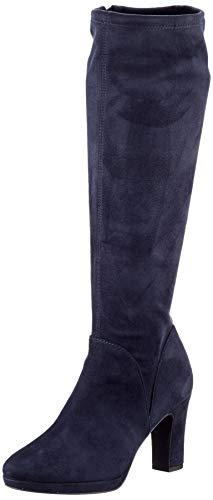 Tamaris Damen 1-1-25522-25 Kniehohe Stiefel, blau, 40 EU