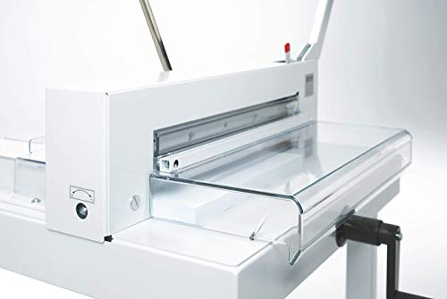 triumph paper cutters IDEAL-4305 Tabletop Paper Cutter-German Steel Blades - Includes Free Blade and Stick - All Metal Construction- Manual Operation- Precision Focused Steel Blades- Safety Guard- Easy Operation