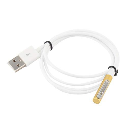 Mini cable de carga USB Cable de carga magnético Indicador LED Cable de carga para Xperia Z3 L55t Z2 Z1 Compact XL39h - 1m-oro