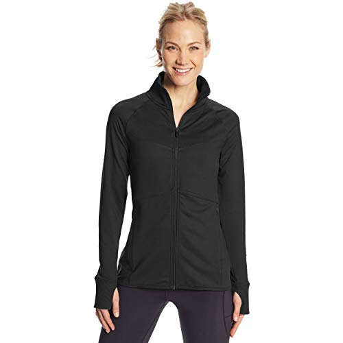 C9 Champion Women's Full Zip Cardio Jacket, Ebony, Large