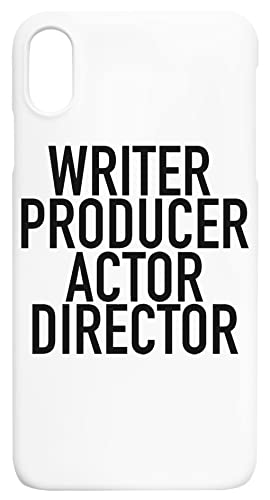 Writer Producer Actor Director Everything iPhone XS MAX Protector Carcasa de Telefono Protective Phone Case