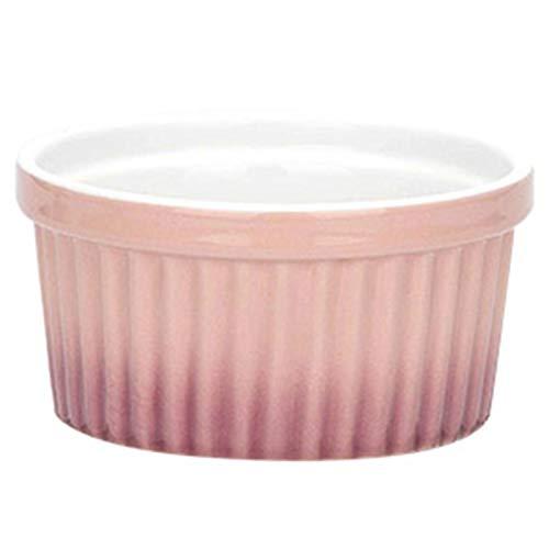 Ramekins De Porcelana, Tazas Para Hornear Para Souffle, Crema Brulee, Natillas, Salsa Y Salsa, Pudín, Mermeladas (Color : Pink, Size : 4 inch)