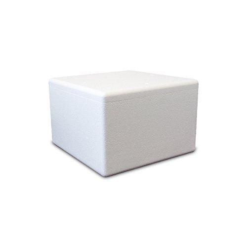Styroporbox/Thermobox - 56,0 Liter - 53,0 x 53,0 x 35,5 cm/Wandstärke 4 cm - Styrobox