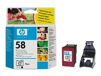 HP 58–Cartucho de impresión (foto)–1x amarillo, cian, Magenta–Blíster