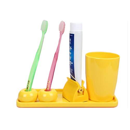 Solide Creative tandenborstel houder Praktische poetsen kop tandpasta knijper Borstelen set Milieubescherming (Color : C)