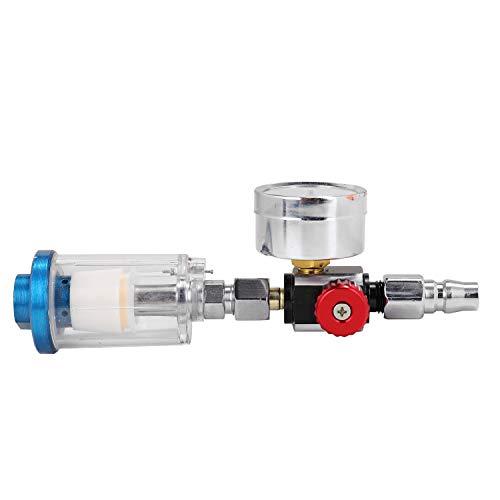 Cucudy HVLP Spray Regulador de Ar Medidor de Pressão 1/4Mini Inline Separador de Filtro de Ar Medidor Regulador de Pressão de Ar Ajustável