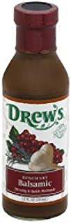 Drew's All Natural, Dressing & Quick Marinade, Rosemary Balsamic, 12 fl oz (Pack of 6)